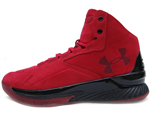 (Under Armour Curry 1 Lux Mid SDE Basketball Men's Shoes Size 8.5 Red/Black)