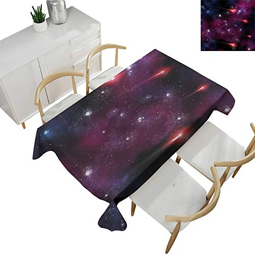 Angoueleven Space,Fitted tablecloths,Four Comet on The Sky Stardust Meteor Shower Magical Wish Halo Scenery,Tablecloths for Sale 50