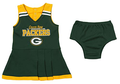 - Outerstuff NFL Toddler Girls Team Color Cheerleader Dress Set, Green Bay Packers 2T
