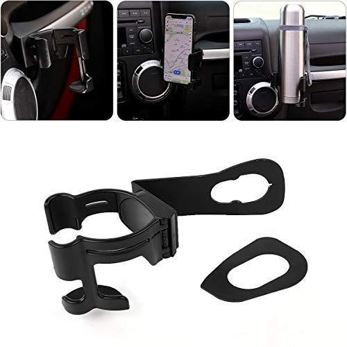 (Jeep Wrangler Multi-Function Drink Cup Phone Holder, Bolt-on Stand Bracket Organizer for 2011-2018 Jeep Wrangler JK & JK Unlimited)