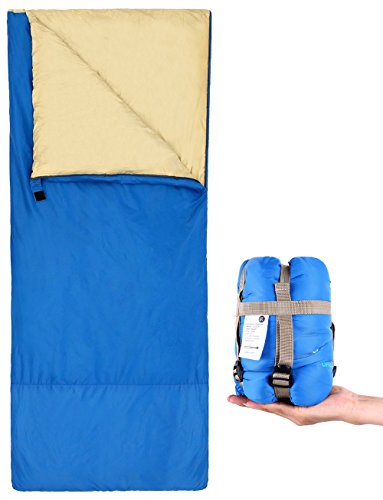 Ohuhu Sleeping Bag Lightweight With A Portable Compression Sack For Camping And Hiking 75x34 Inch 17LBS