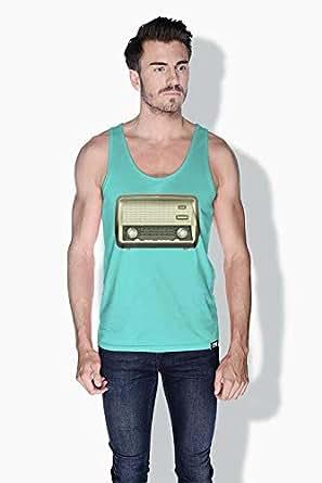 Creo Radio Retro Tanks Tops For Men - Xl, Green