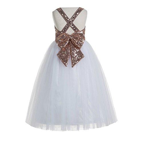 030913321 ekidsbridal Crossed Straps A-Line Flower Girl Dresses Junior ...