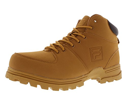 Fila Mens Boots - Fila Men's Ascender 2 Hiking Boot, Wheat/Espresso, 10.5 M US