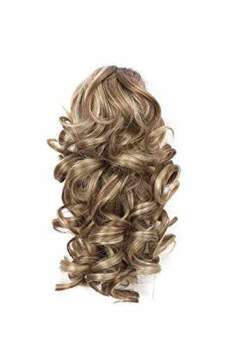 Onedor 12'' Synthetic Fiber Natural Textured Curly Ponytail Clip In/On Hair Extension Hairpiece (H16/613) by Onedor
