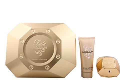Rabanne Gift Set -- 2.7 Oz Eau De Parfum Spray + 3.4 Oz Body Lotion For Women ()