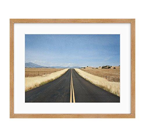 American Traditional Road Trip (Framed Photographic Print, Open Road Wall Art, Rustic Farmland Landscape Decor, American Road Trip')