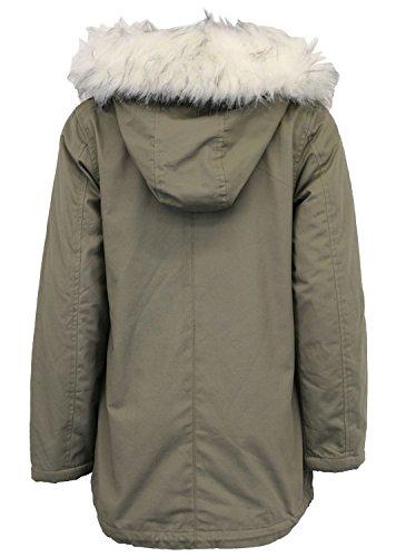 White Encapuchonné Parka Vestes Khaki 44 Toison Aux Pickle Hiver Manteau Fourrure Sherpa Doublé 36 Chocolate Nouveau Femmes 4gxTaq