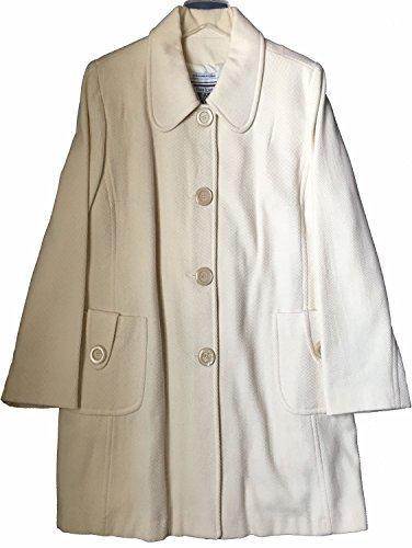 Blend Wool Ivory Jacket (Marvin Richards Women's Wool Blend Coat Ivory Plus Size 1X)