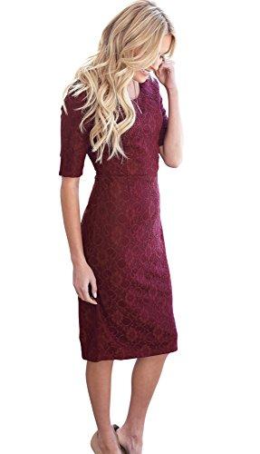 cream lace dress - 6