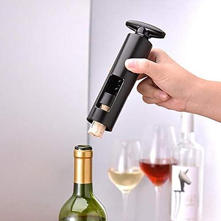 MagiDeal Extractor de Corcho Manual para abridor de Vino de plástico inalámbrico con Sacacorchos de Botella roja
