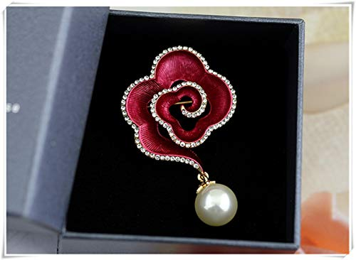 - we are Forever family Rose Shaped Brooch, Diamond, Pearl Cloud, Brooch, Clothing Accessories, Personal Accessories.