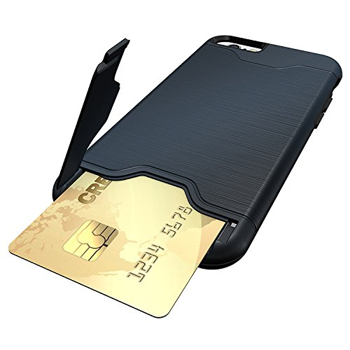 iProtect Apple iPhone 7, iPhone 8 TPU Shockproof Case Schutzhülle Metall Optik in blau