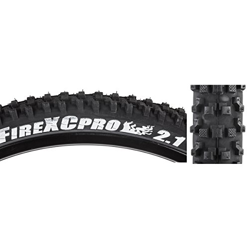 panaracer Fire XC Pro Bicycle Tire (Wire Bead, 26x2.1, Black/Black)