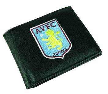 Black Leather Aston Villa Fc Wallet With Club Crest - Mens Executive Gift 7000 by 100% Official Club Merchandise by 100% Official Club Merchandise