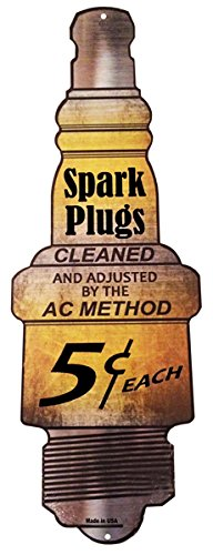 Oil Motor Reproduction - Spark Plugs Gas Station Motor Oil Reproduction Sign 9