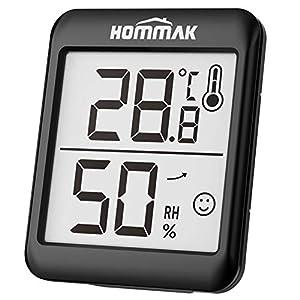 Hommak Mini Igrometro Termometro, 2.3inch Digitale Termoigrometro, per Casa, Camera da Letto, Soggiorno, Ufficio, di… 41lrGkqfW1L. SS300