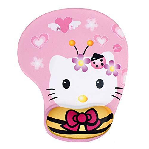 Cute Mouse Pad with Wrist Support, Cartoon Kitty