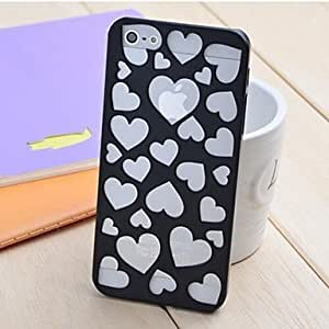 ZLXUSA (TM) Hollow Out Loving Heart Pattern Design PC Hard Case for iphone 6 plus Black