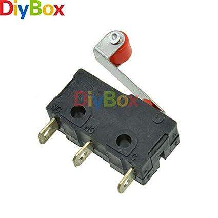 10Pcs Rodillo normalmente abierto Brazo de Palanca Cierre Interruptor De Límite Micro KW12-3