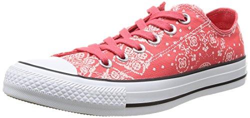 Converse Chuck Taylor Bandana Prt - Zapatillas de Deporte de canvas para mujer Rojo