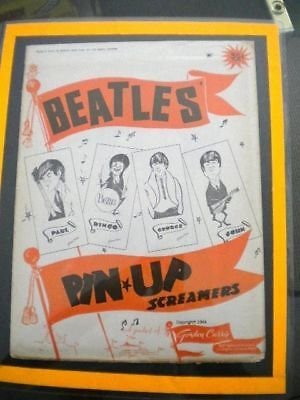 The Beatles very rare original mint Pin up 4 screamers set 1964