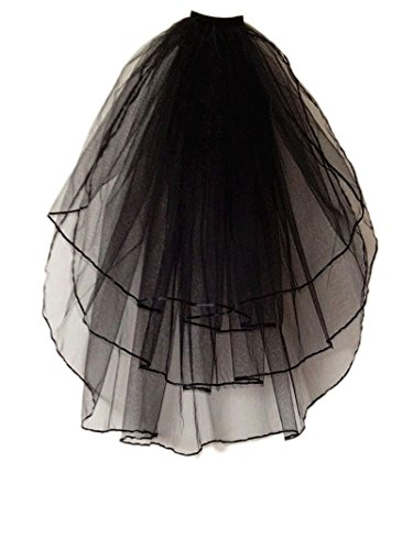 (Vimans 2018 Women's Fashion Short Bridal Wedding Veils with Comb)