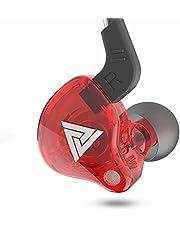 Anklord AK6-serie kleurrijke stereo sport oordopjes, 3,5 mm bedrade hoofdtelefoon, 1,2 m kabel lengte hifi headset oortelefoon in-line bediening, muti-action kleur kiezen (rood)
