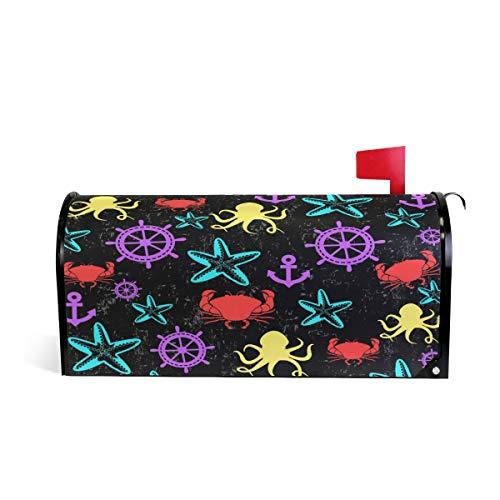 Tengyiyi Squid Starfish Crab Mailbox Cover Post Box Decorative Standard Sized Design Home