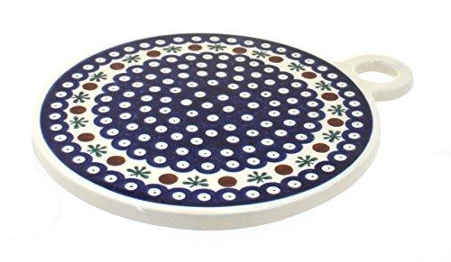 Blue Rose Polish Pottery Nature Round Cutting Board ()