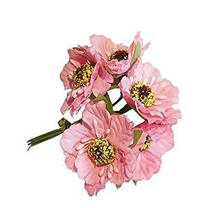 Walmeck 6Pcs/Bunch 3.5cm Mini Silk Cherry Artificial Poppy Bouquet DIY Handmade Wreath Scrapbook Wedding Decoration Craft Fake Flower 19
