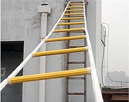 Escaleras De Incendios Portátiles, Escalera De Cuerda De Escape Respuesta De Seguridad En El Trabajo Aéreo Rescate De Emergencia contra Incendios, Escalera Blanda Multifunción 15M: Amazon.es: Jardín
