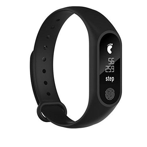 Pulsera Inteligente,M2PULS,Fitness Tracker con Pulsómetros,Cronómetro,GPS para Running,