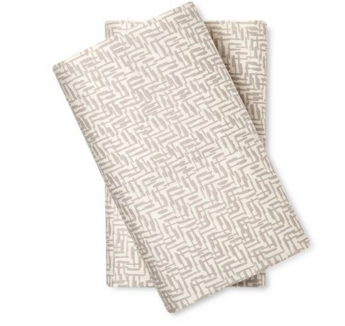 Nate Berkus 300 Thread Count Sateen Pillowcase Set - Grey (Pillowcases Only) (King)