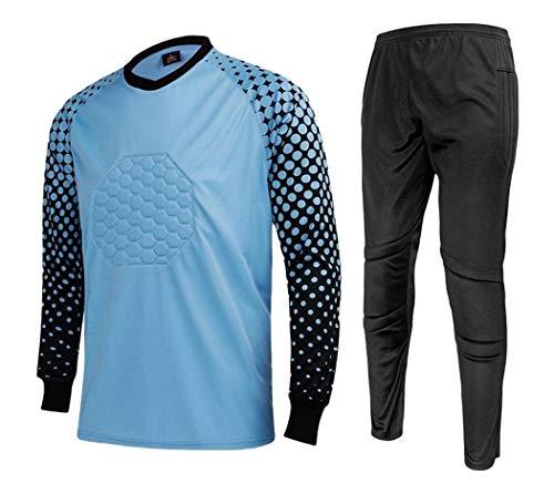 32a2ed47c84 CATERTO Men s Football Goalkeeper Foam Padded Jersey Shirt   Pants Shorts