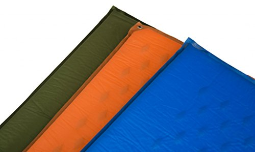 Estera Outdoors Lightweight Self Inflating Air Mattress, Foam Sleeping Mat, Camping Sleep Pad with Stuff Sack 8 Self inflates in minutes and with little air can be fully inflated or adjusted to your comfort. Easily rolled up for space saving storage. Lightweight plastic air valve provides trusted seal. Durable polyester helps prevent punctures and ripping while holding up to the elements.