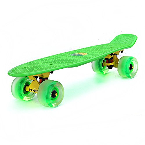 Review PUENTE Complete Cruiser Skateboard 22 Inch