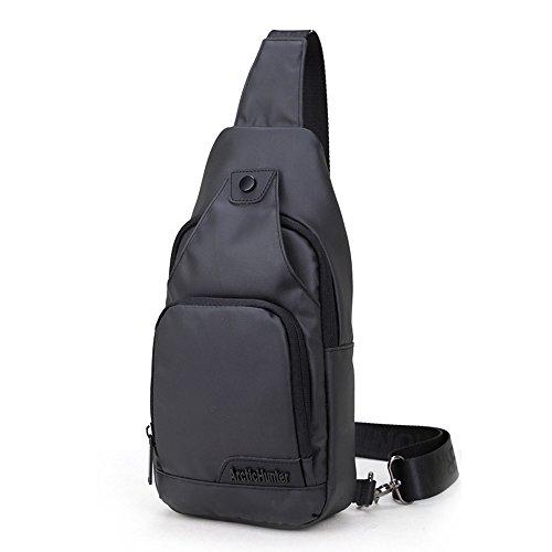 Toptotn Wasserdichte Sling Bag Crossbody Chest Pack Ein Schulter Rucksack In Schwarz Outdoor Radfahren Wandern Camping für Männer und Frauen Teen Jungen und Mädchen