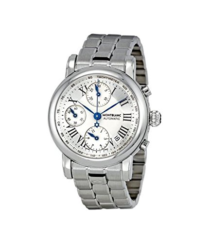 Montblanc Star Silver Dial Steel Automatic Chronograph Mens Watch 101643 by MONTBLANC