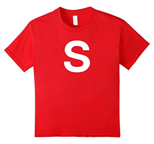 Kids S Letter Fun Easy Last Minute Group Halloween Costume Shirt 8 Red (Easy Last Minute Halloween Costumes For Boys)