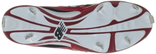 New Balance Herren L4040 Metall Low Baseball Schuh Schwarz Rot
