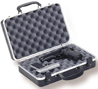 Deluxe Double Bow Case (Deluxe 2-Pistol Case with Two Key Locks in Black)