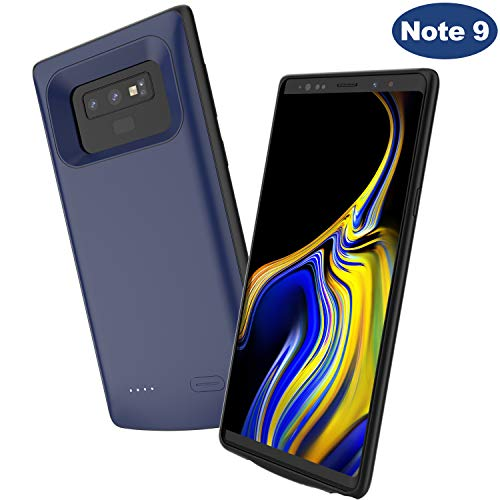 Note 9 Battery Case,Elebase Portable External Rechargeable Power Charger Case,5000mAh Protective Backup Charging Case Pack with Raised Edge for Samsung Galaxy Note 9(Blue)