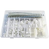 Fotag 1220Pcs 2.54mm JST-XHP 2 / 3 / 4 / 5 / 6 / 7 / 8 / 9 Pin housing (and Pin Pedestal Housing) Kit and Male / Female Pin Header Terminals Connector Adapter Plug Set