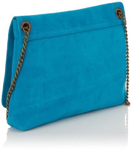 Sous Les Pavés - New Love On The Beach, borsa Crossbody donna, color Blu (Wildleder / Türkis / Silber), talla unica
