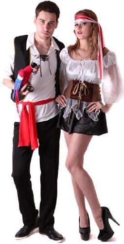 Disfraz de pareja de piratas - S: Amazon.es: Juguetes y juegos