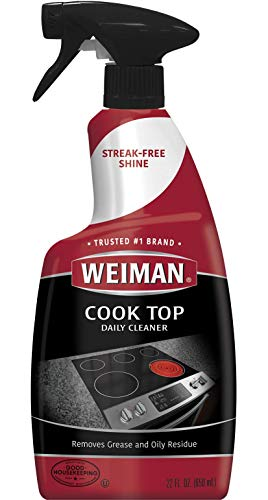 Weiman Cooktop Cleaner and Polish 22 Fluid Ounces - Daily Cleaner - Shines and Protects Glass and Ceramic Smooth Top Ranges - Gentle ()