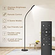 #LightningDeal Floor Lamp, Remote & Touch Control 2500K-6000K LED Floor Lamp for Bedroom and 4 Color Temperatures Standing Lamp with Stepless Dimmer, dodocool Standing Light for Living Room Bedroom Office Reading