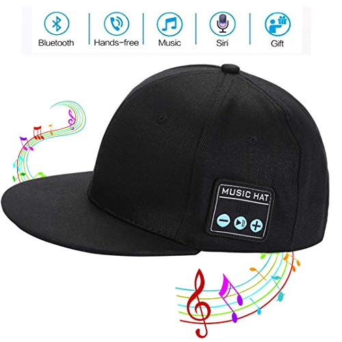 Bluetooth Cap,Wireless Bluetooth Speaker hat Bluetooth Beanie hat Wireless Baseball Cap Music Cap Wireless hat Headphones Outdoor Leisure Cap for Man&Woman Black
