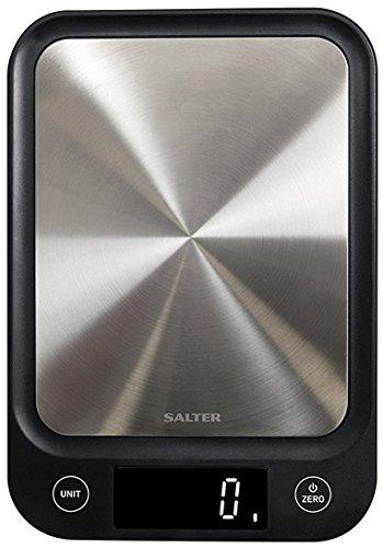 Salter 1068 SSBKDR Ultra Slim Kitchen Scale, 23 x 16 x 2 cm, Stainless Steel